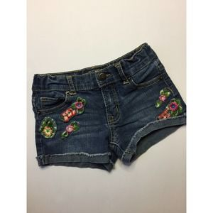 Lucky Brand Denim Rolled Cuff Shorts Floral 5